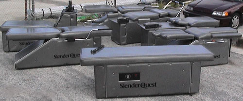 slender quest metallic gray Used Toning Tables